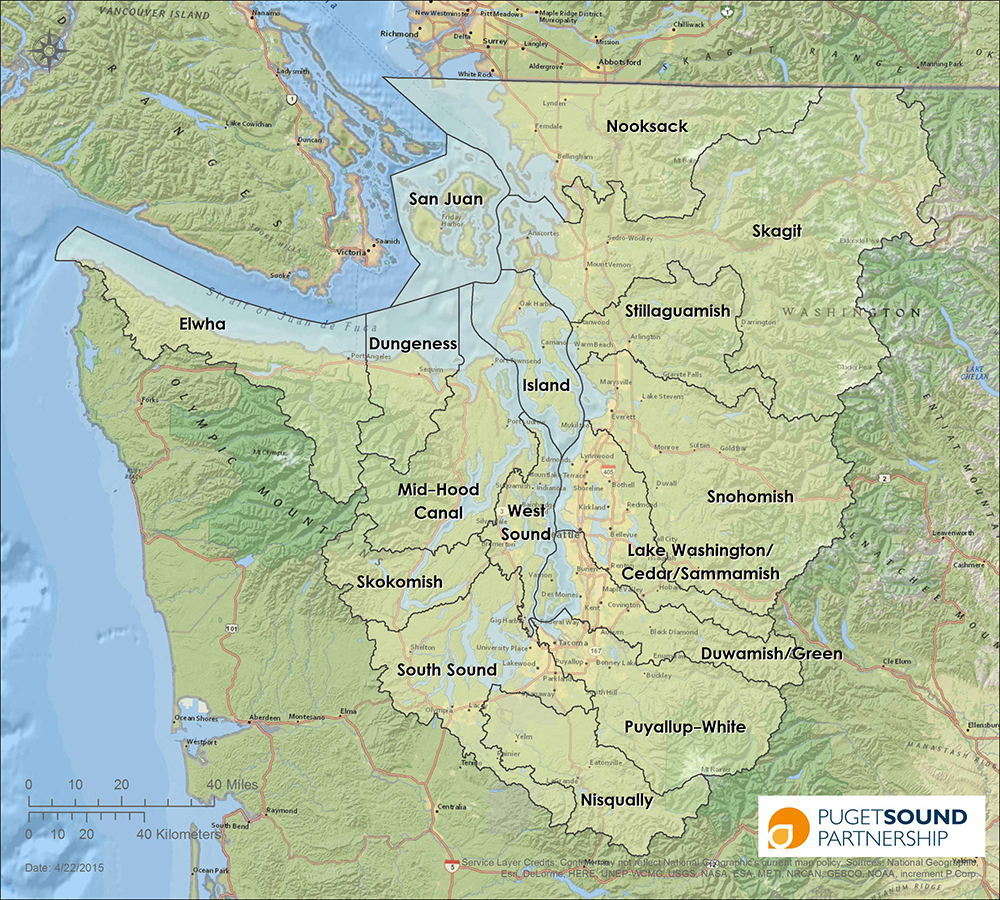 Map of Puget Sound Watersheds